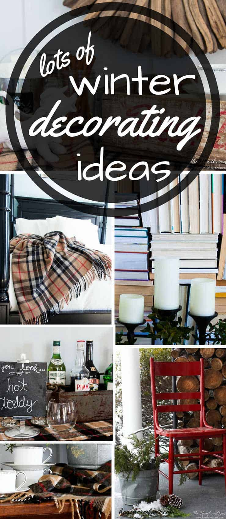 Great ideas to warm up winter decor! THESE ARE SO EASY & AFFORDABLE!! #winterdecoratingideas #winterdecor #winterhomedecor