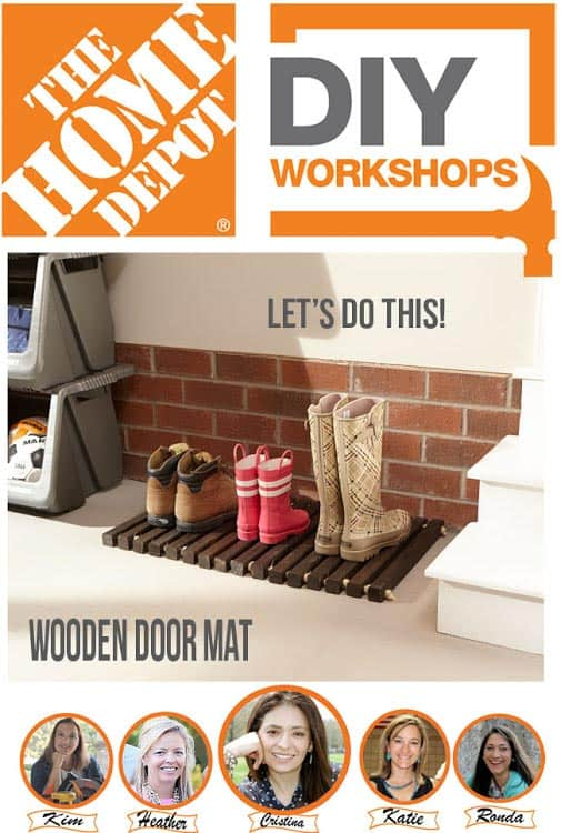 Home Depot DIY workshop information from www.heatherednest.com