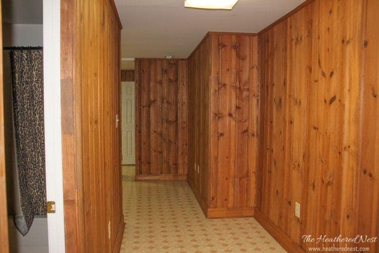This may be the WORST basement you've ever seen. Check it out and all our DIY basement design ideas to make it a beauty. from www.heatherednest.com