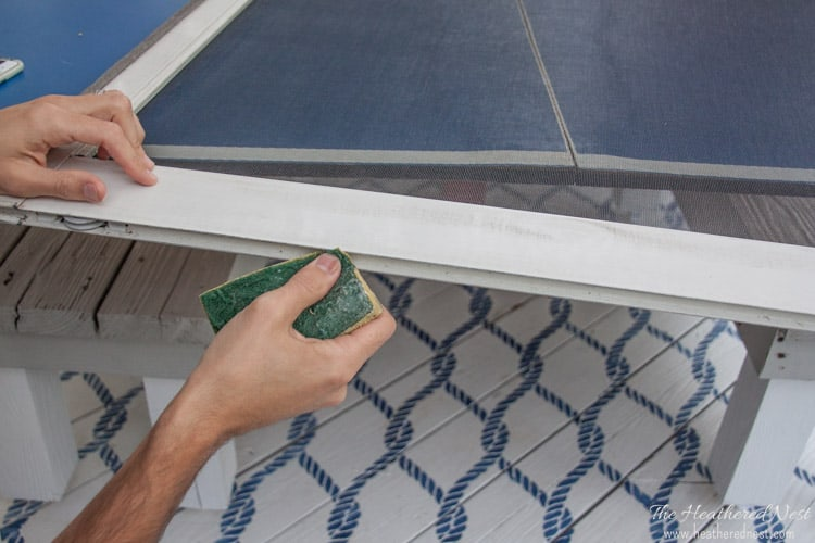 Got some window or door screens that need to be replaced? Holes or gashes in those window screens? DON'T BUY NEW! Replace them! Simple DIY and we'll teach you how to replace a window screen (or a door screen) in NO TIME! from www.heatherednest.com