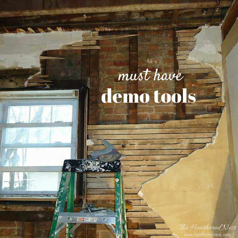 Demo Tools Basement Ideas ORC week 2 www.heatherednest.com