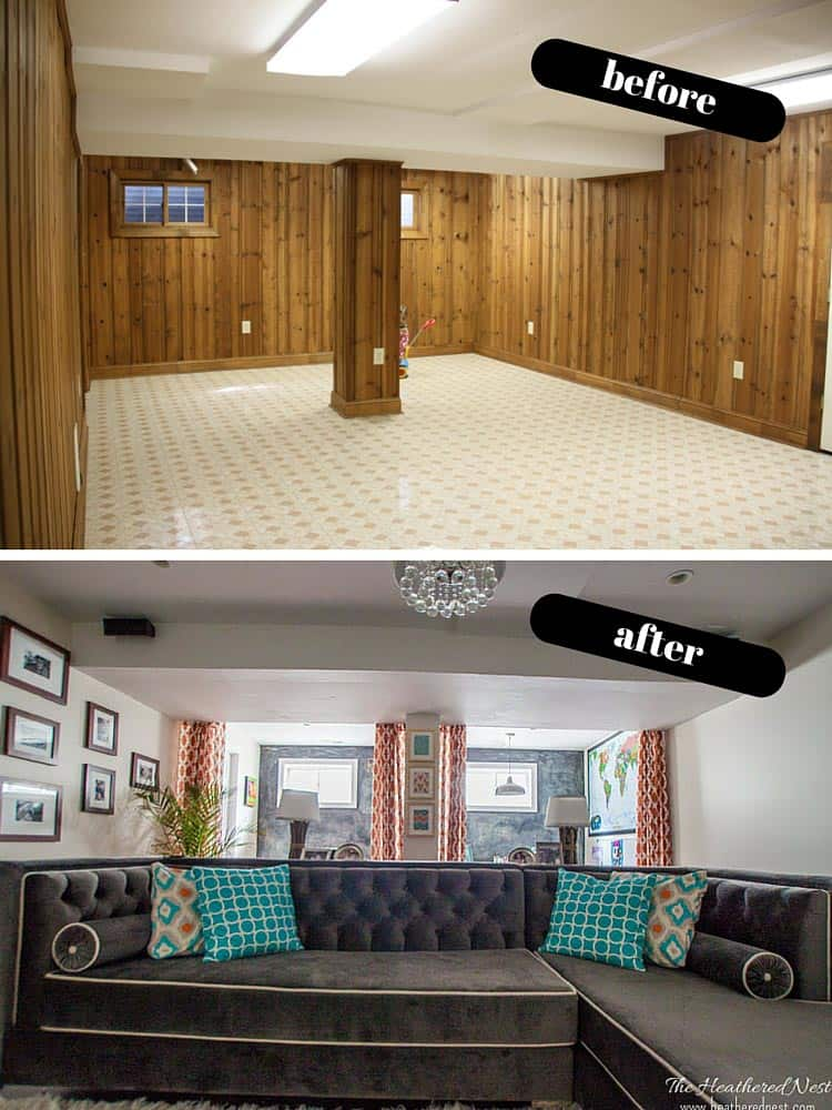 diy basement design ideas. DIY Basement Reveal! Full Of Budget-friendly Ideas And  Design Ideas. Diy