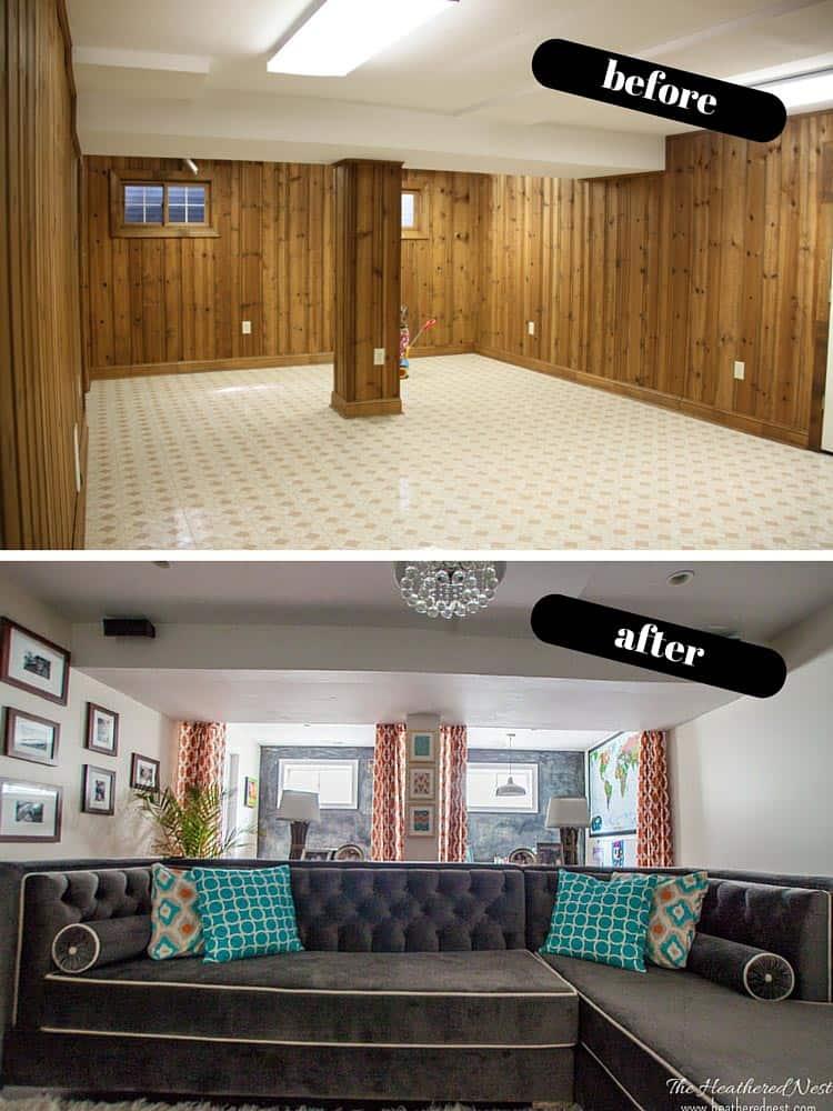 DIY basement reveal! Full of budget-friendly basement ideas and basement design ideas. & Iu0027m all about that basement that basement. Basement ideas revealed ...