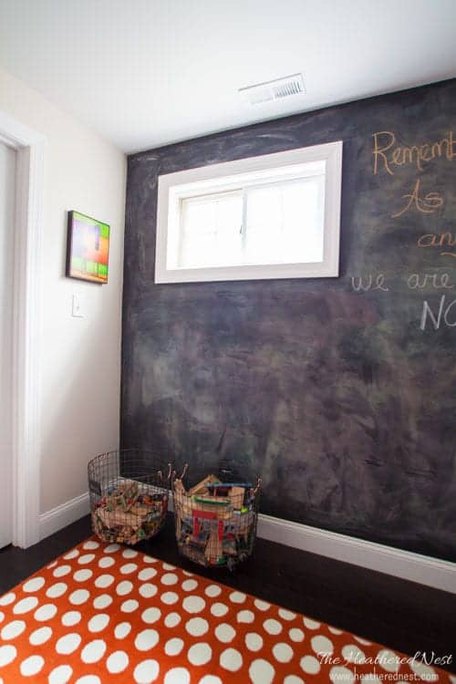 DIY basement reveal! Full of budget-friendly basement ideas and basement design ideas...LOVE THESE! from www.heatherednest.com