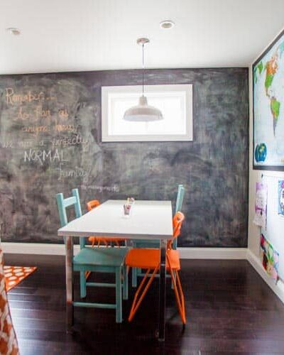 Let's Give 'Em Something to Chalk About. DIY Chalkboard Paint.