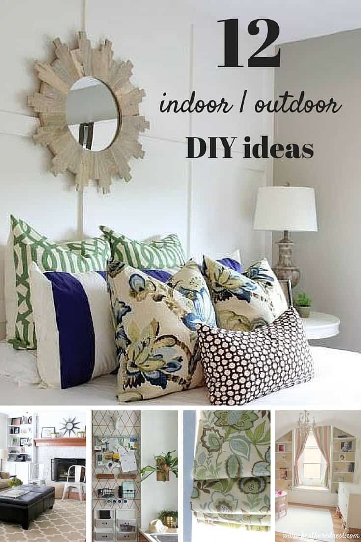 12 fantastic DIY ideas for both indoor and outdoor projects from the DIY Housewives!