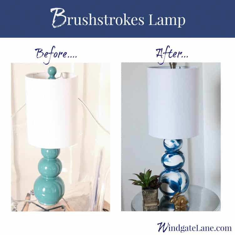 Windgate Lane Brushstrokes Table Lamp
