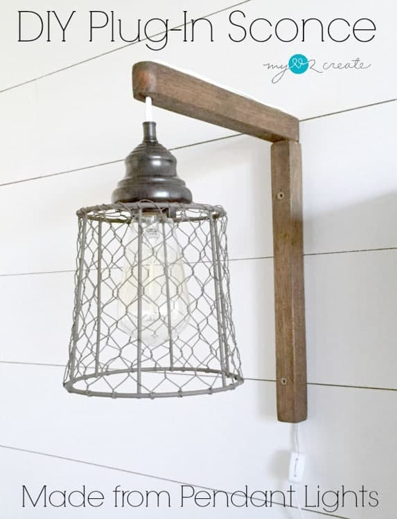 My Love 2 Create - DIY Rustic Plug-in Sconces