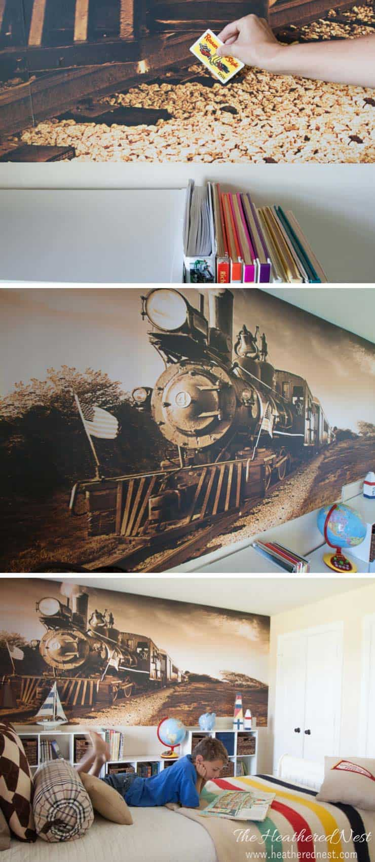On mediocrity and murals install a diy wall mural the for Diy wall photo mural