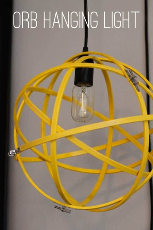 DIY Orb Hanging Light - A Crafted Passion