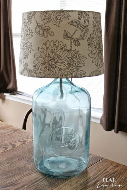 Petal and Ply - Antique Water Bottle turned DIY Lamp