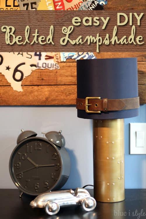 Blue I Style - Belt DIY Lampshade
