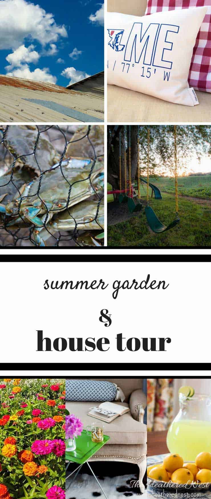 GORGEOUS summer garden and house tour from home decor and DIY blogger heathered nest!!