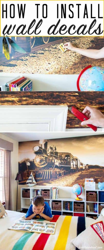 Vinyl wall decals are popular. This tutorial teaches you how to install a wall decal! from heatherednest.com DEFINITELY trying this! Seems pretty easy!!