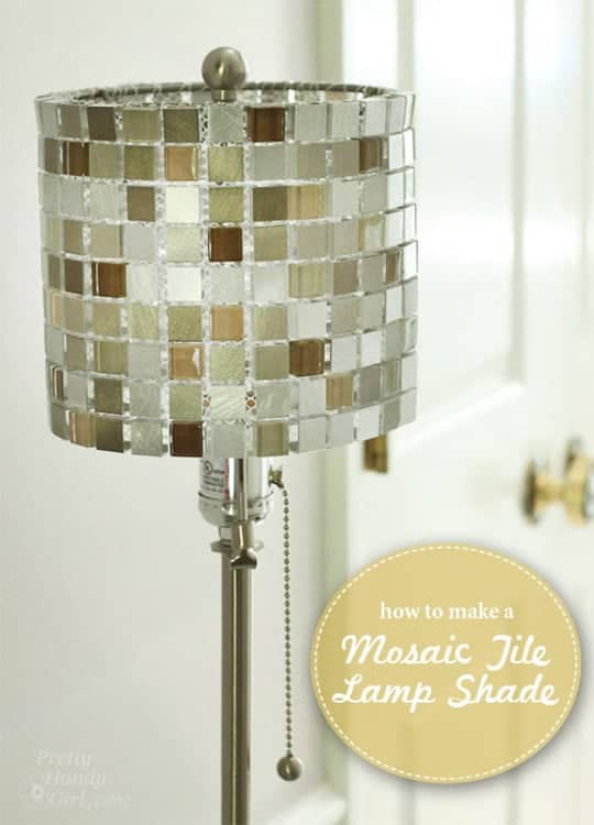 Pretty Handy Girl - Mosaic Tile Lamp Shade