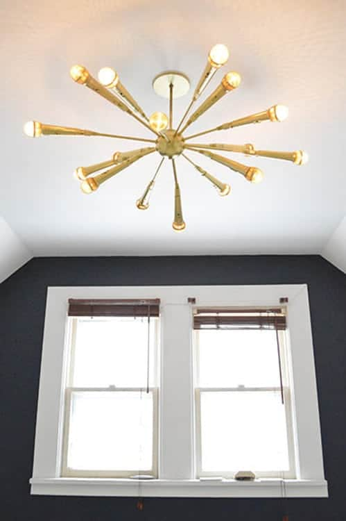 Sarah's Big Idea - Gold Microphone Sputnik DIY Light