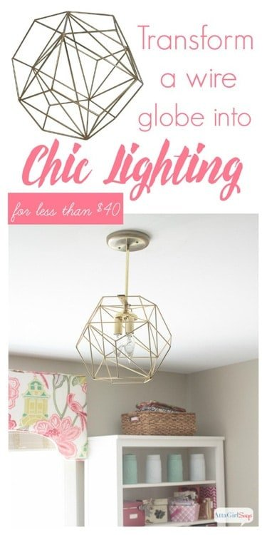 Atta Girl Says - Geometric Globe DIY pendant light