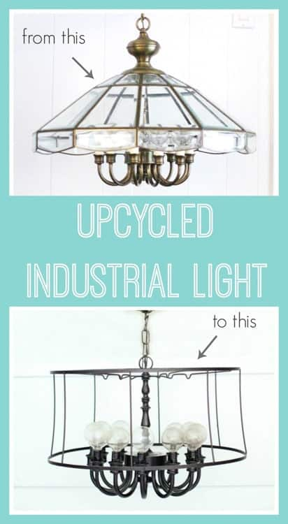 Lovely Etc. Upcycled Industrial DIY Light