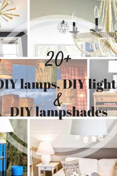 20+ Bright DIY Light / DIY Lamp Ideas