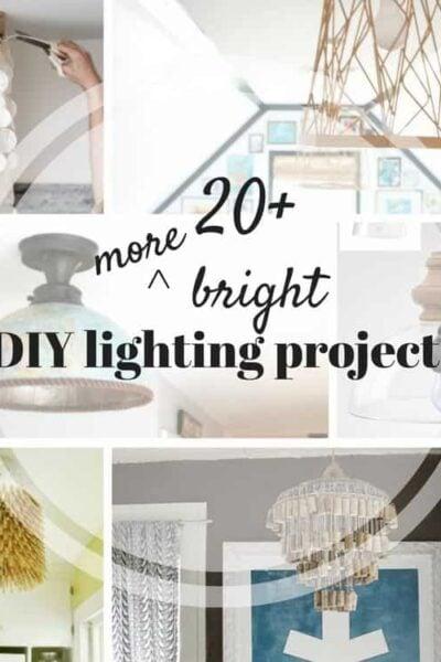 20+ MORE DIY lampshade, DIY light and DIY lamp ideas!