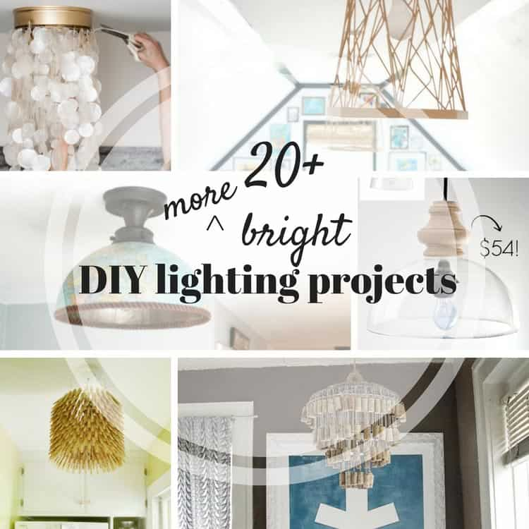 20+ MORE DIY lampshade, DIY light and DIY lamp ideas!