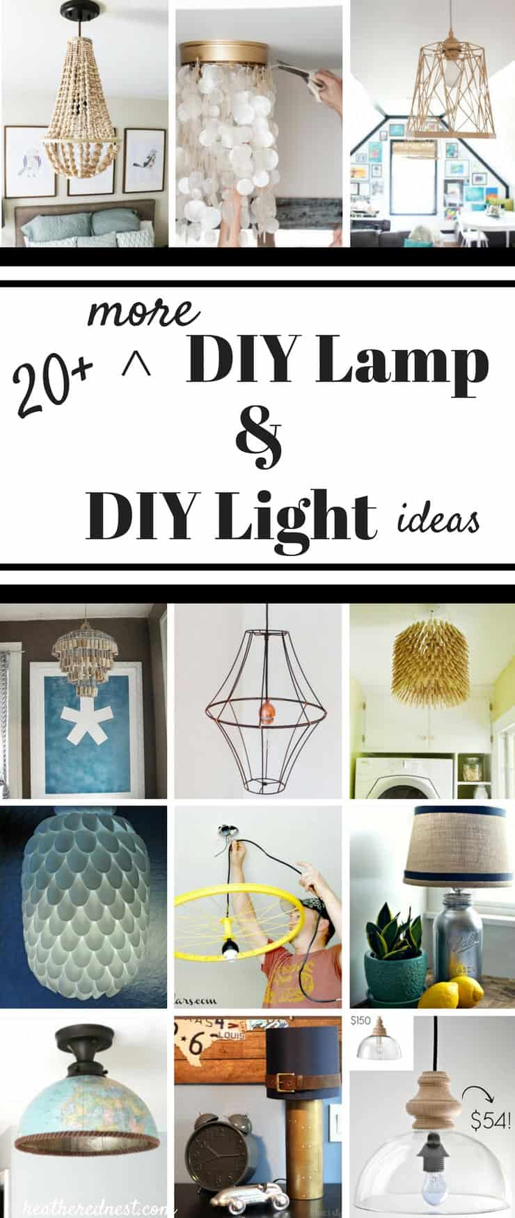 20 more diy lampshade diy light and diy lamp ideas heathered nest