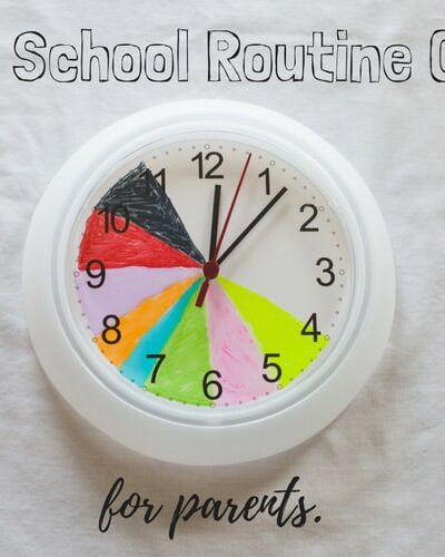 Easy, DIY after school routine clock for PARENTS. Let's face it, the kids are uncontrollable. This is just our personal, grasping at straws attempt to keep ourselves sane for the hours of 4pm-8pm.
