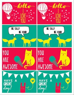 Back to School Cute Love Notes | Printable Lunch Cards for Kids from www.heatherednest.com