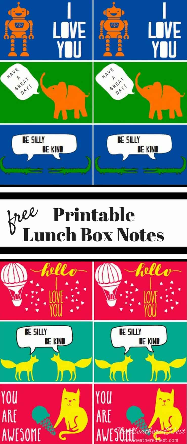 AWESOME FREE PRINTABLE DOWNLOAD!! Back to School Cute Love Notes | Printable Lunch Cards for Kids from www.heatherednest.com