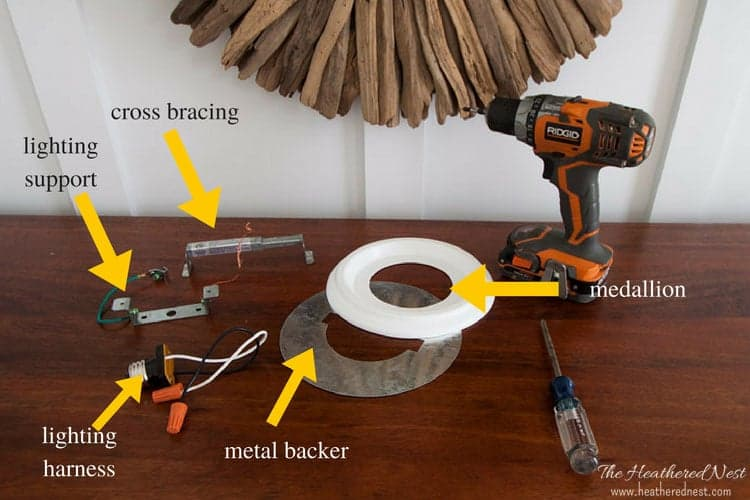 How to change a light fixture using a recessed light conversion kit supplies needed to change a light fixture full how to for using a diy recessed aloadofball Images