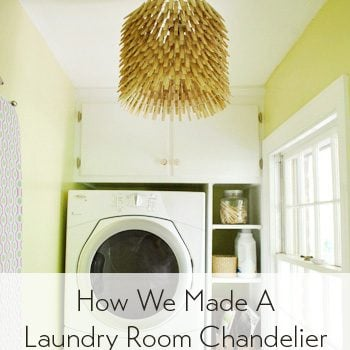 Young House Love - Clothespin Chandelier