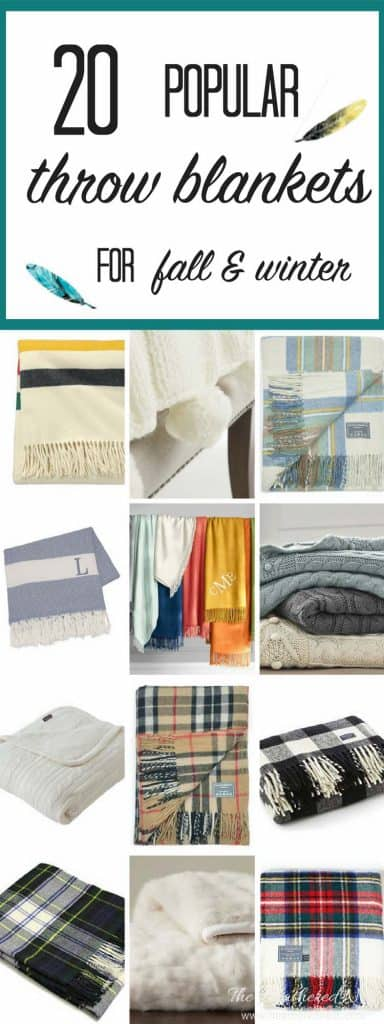 Come check out the BEST sources for popular, cozy throw blankets, perfect for the fall and winter time! 20 gorgeous throws, all of which you can purchase without leaving your desk chair!
