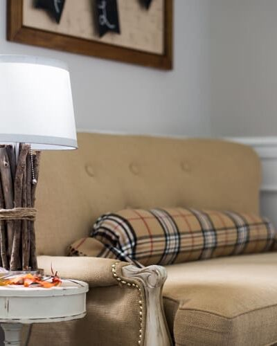 This is a Stick-Up. Easy Rustic DIY Lamp with Wood or Twigs.