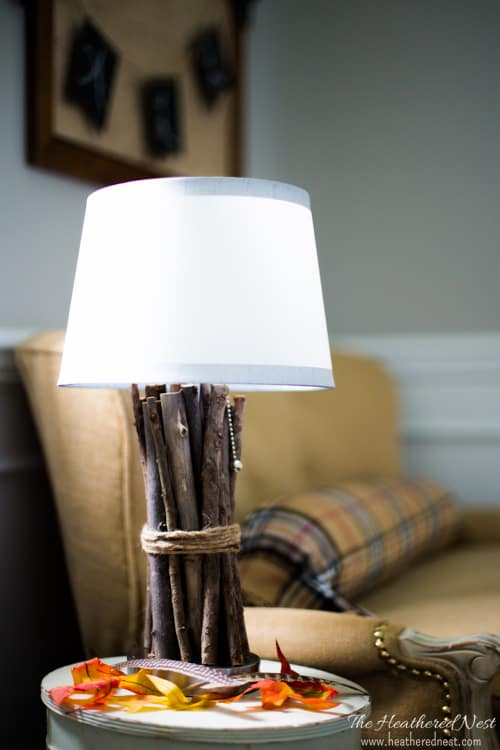 Totally making this easy DIY wood lamp from www.heatherednest.com. Love this idea!