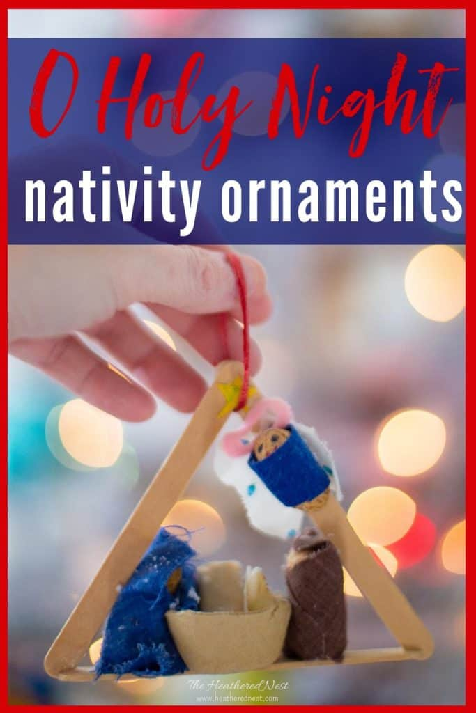 This DIY nativity ornament is one that will be cherished for a lifetime! I made mine as a child, and it still hangs on our Christmas tree every holiday season! #nativityornament #DIYnativityornament #DIYnativityornamentforkids #babyjesusornament #cinnamonstickornament #mangercraftforkids