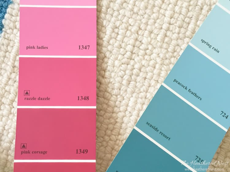 shades of pink paint for girls pink bedroom makeover heatherednest.com