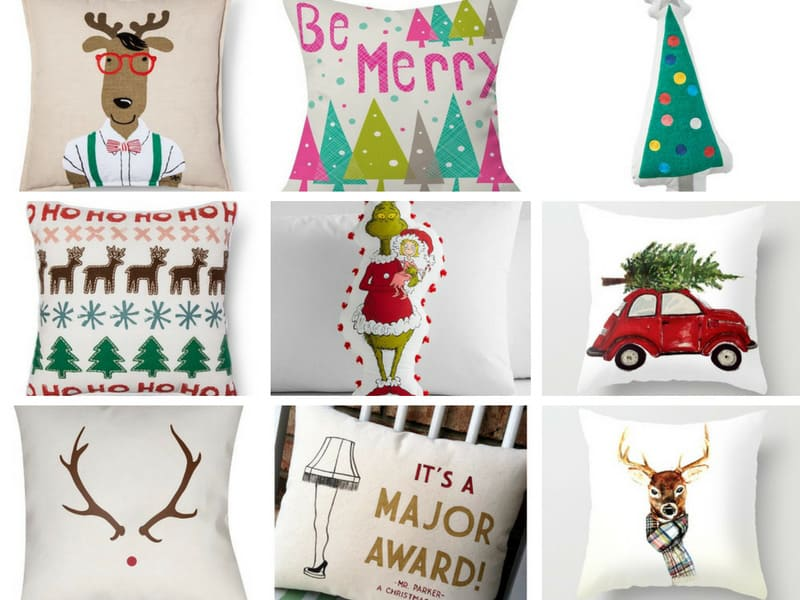 All the Christmas Throw Pillows, pa rum pum pum pum