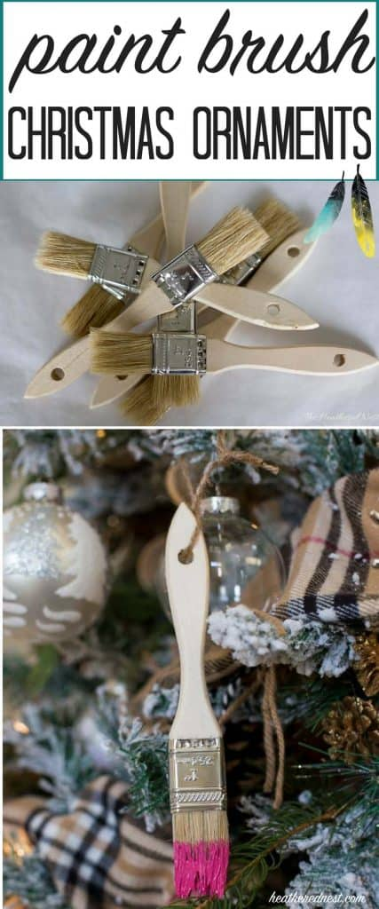 SUPER easy and VERY inexpensive! What a GREAT IDEA for a DIY Christmas ornament! This popular paint brush craft is definitely one to add to the holiday to do list!!