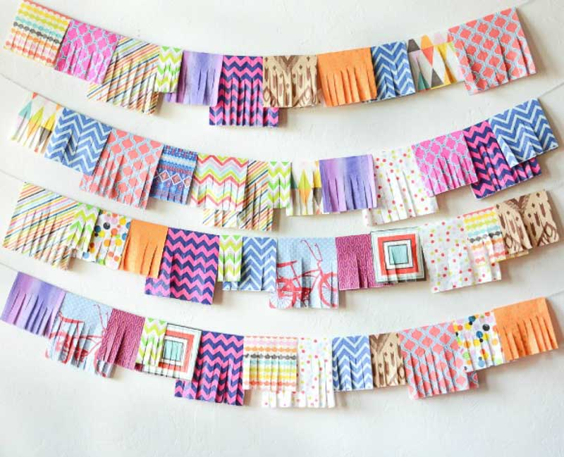 Upcycled Party Napkin DIY Garland idea