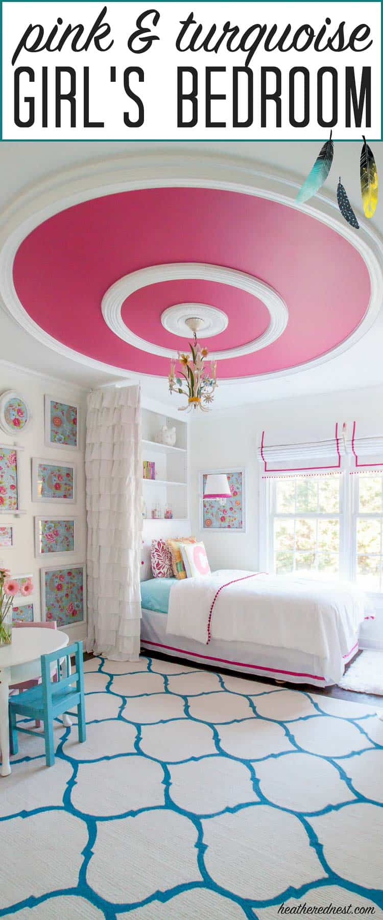 Pink Bedroom Reveal | The Heathered Nest