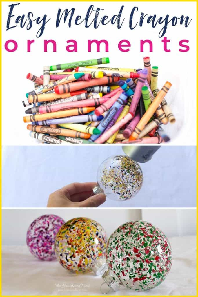 Diy Melted Crayon Ornaments In 4 Easy Steps The Heathered Nest