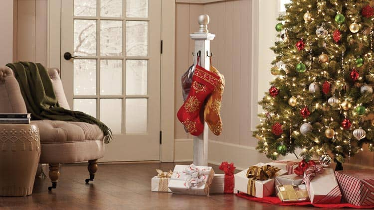 The Home Depot DIY Workshop presents the holiday project, this DIY Stocking Post!