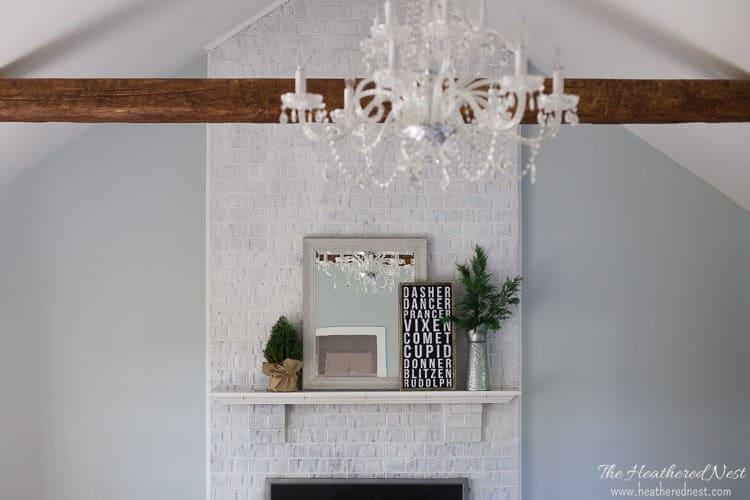 Easy DIY Christmas Mantel from heatherednest.com