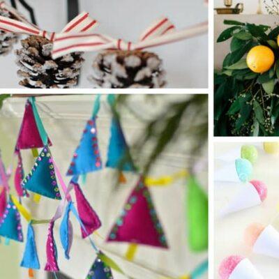 collage of garland ideas