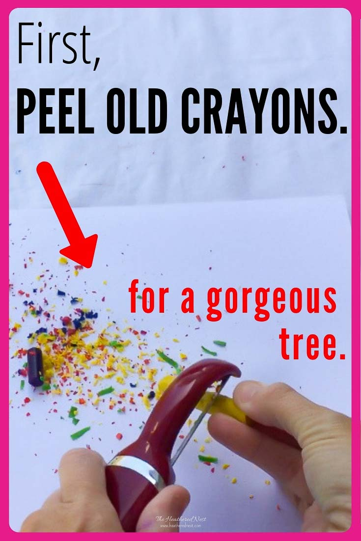 Got gobs of old crayons lying around? You don't need much else to create this gorgeous Christmas craft! #crayoncraft #whattodowitholdcrayons #meltedcrayoncraft #crayonornament #meltedcrayonornament #meltedcrayonornaments #meltedcrayonchristmasornaments #meltedcrayonchristmasornament #crayonartmelted #crayonartmeltedchristmas #crayonornaments