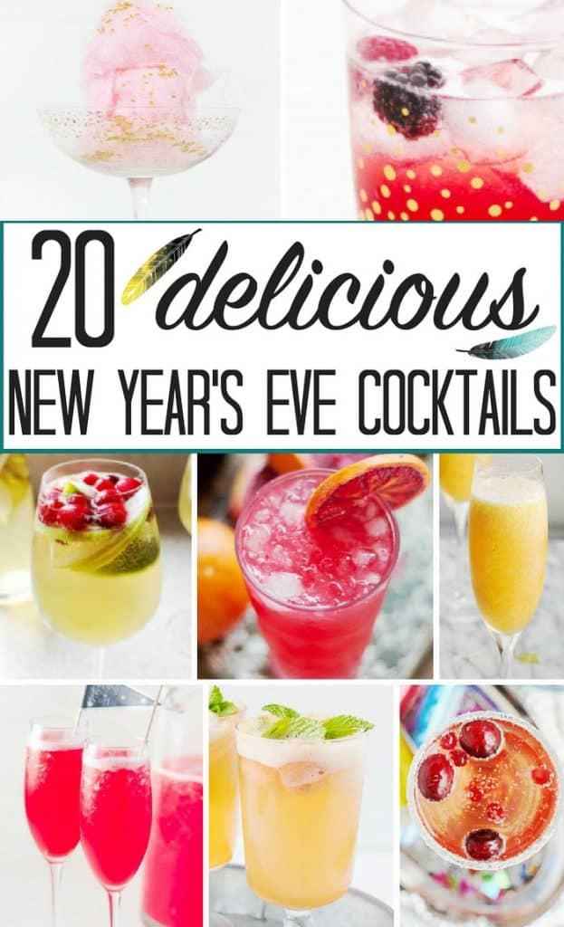 20 popular New Year's Eve cocktails to ring in the new year!! These look AMAZING!!!