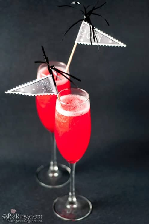 Every NYE party needs a good punch! Check this one out from Heathered Nests list of New Year's Eve Cocktails!