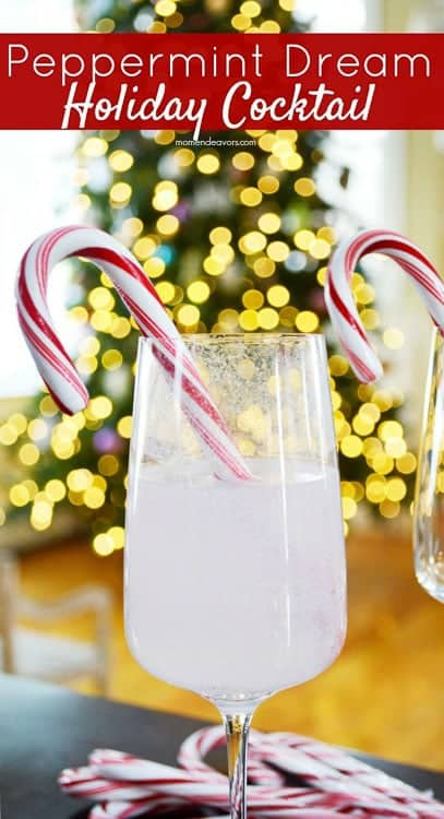 The candy cane stir stick is genius in this Holiday cocktail!