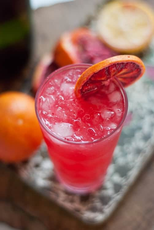 This New Year's Eve cocktail is a great take on the French 75! I love blood orange anything!