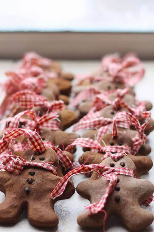 These gingerbread ornaments are making me hungry! I love how adorable they are!
